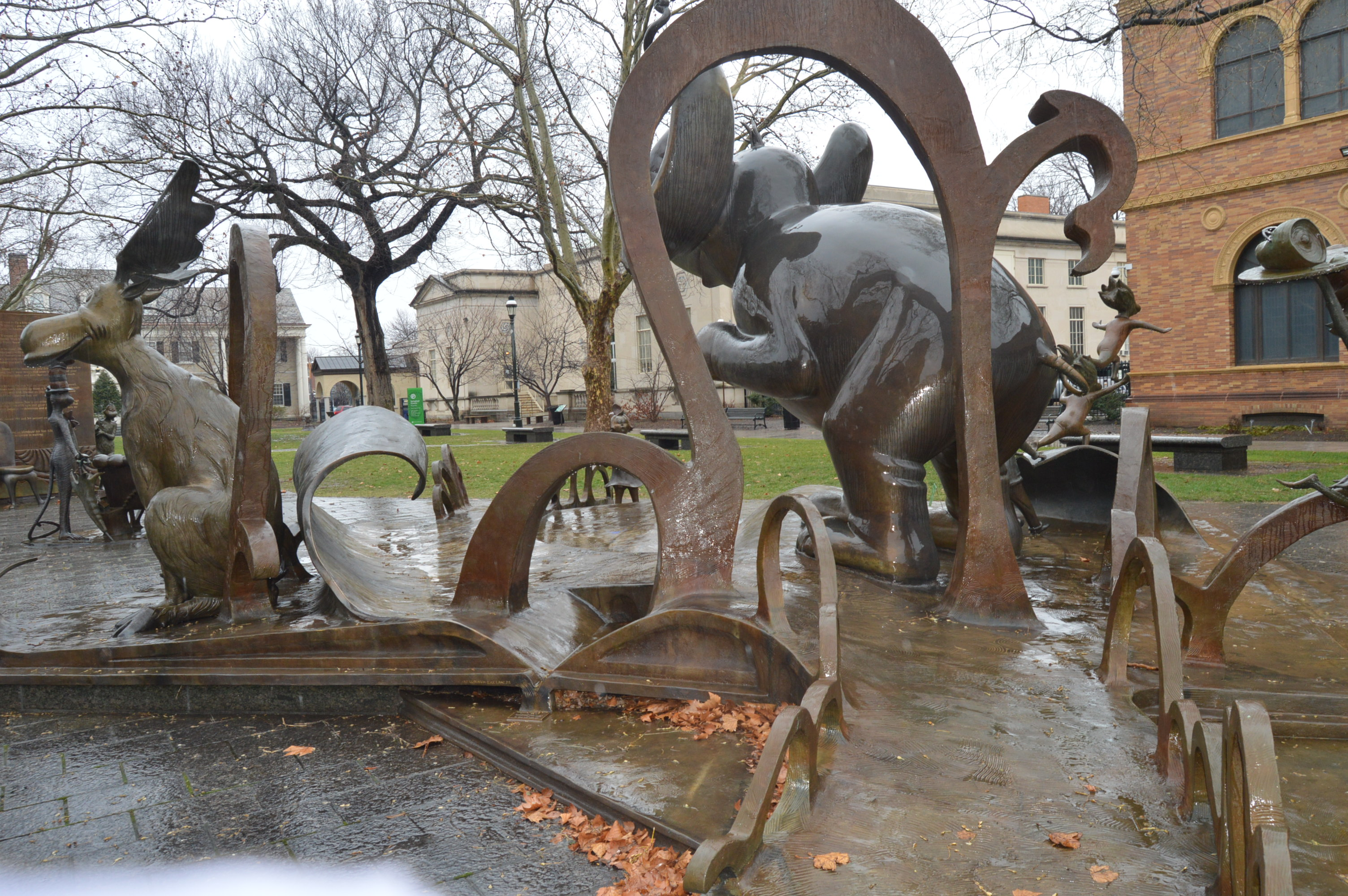 Dr Seuss National Memorial Sculpture Garden Springfield Ma New England Nomad